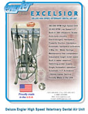 Excelsior Deluxe High Speed Veterinary Dental Air Unit