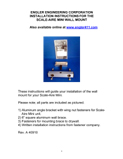 Wall mount installation manual for the Scale-Aire Mini